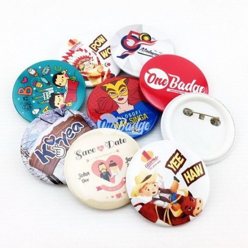 Button Badge Material 58mm with Safety Pin Cover (100pcs/pkt)