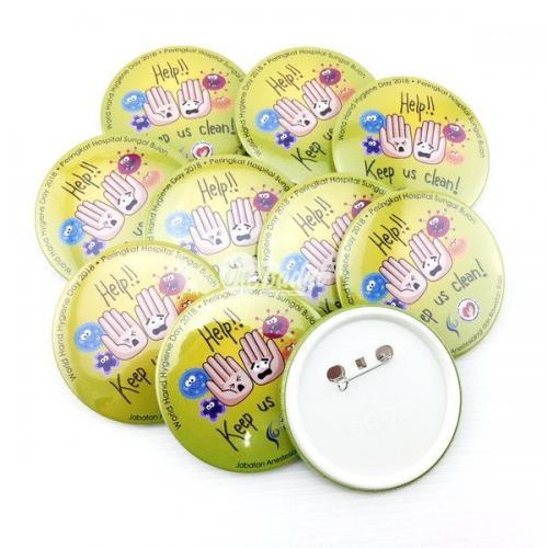 Big button badge supplier Malaysia