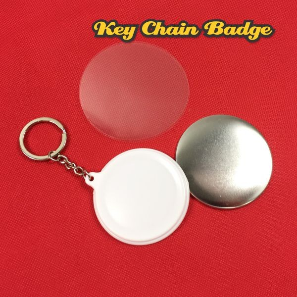 Keychain Button Badge Material - 58mm - (50pcs/pkt)