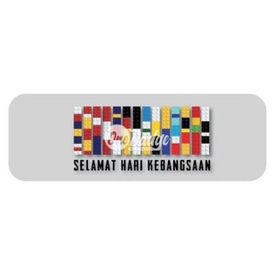Merdeka Theme Rectangle Badge (2)