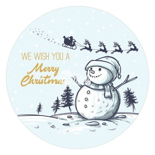 Merry Christmas Theme Button Badge (10)