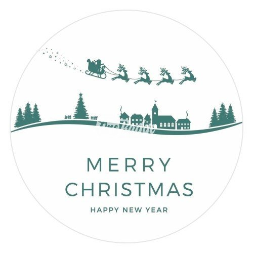 Merry Christmas Theme Button Badge (4)