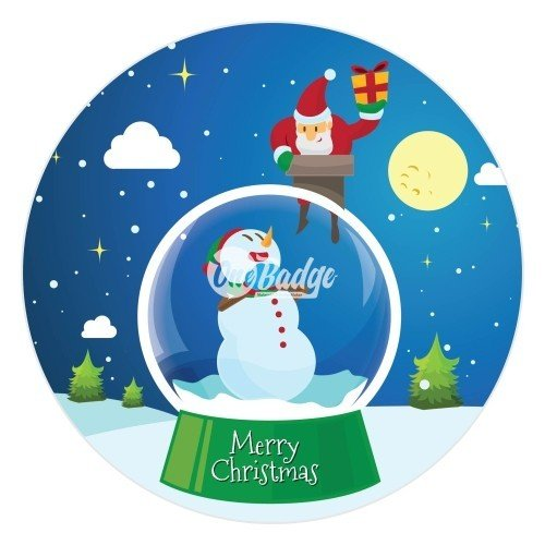 Merry Christmas Theme Button Badge (5)