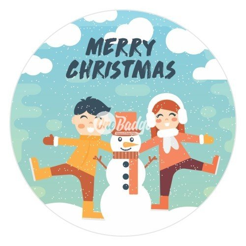 Merry Christmas Theme Button Badge (6)