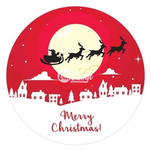 Merry Christmas Theme Button Badge (9)