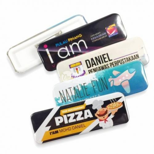 Rectangle Badge Supplier Malaysia | Name Badge | Pin Badge