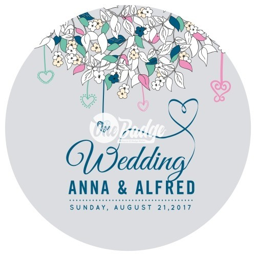 Wedding Theme Button Badges (17)