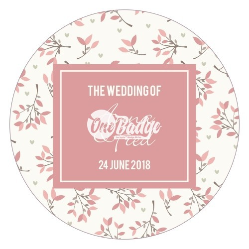 Wedding Theme Button Badges (7)