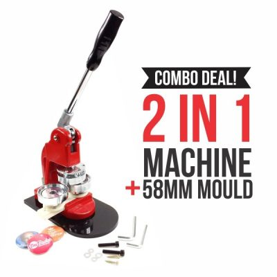 Button Badge Machine – Red Combo 2 in 1-W2