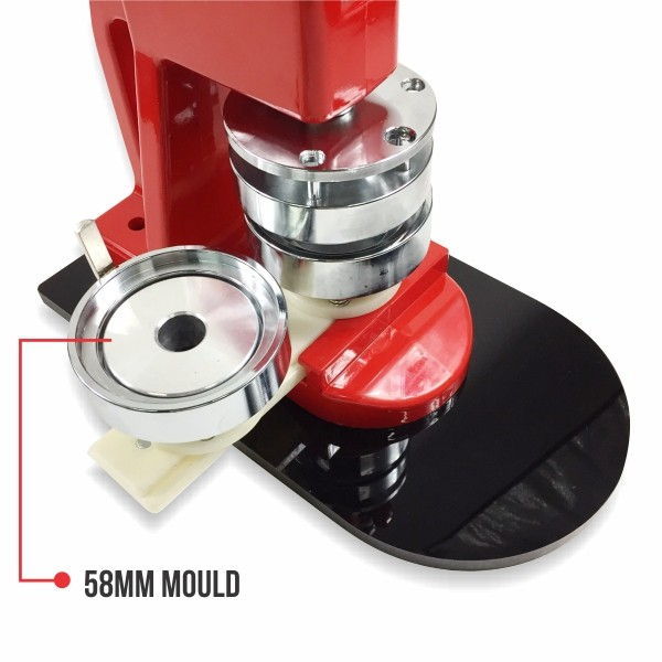 Button Badge Machine-Combo 2 in 1 (With 58mm Mould). BBMC-001