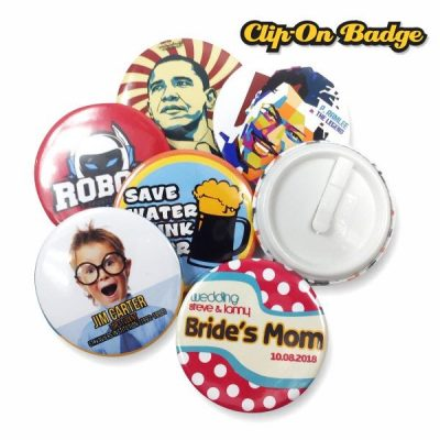 Button Badge Clip-On-Sample Photo