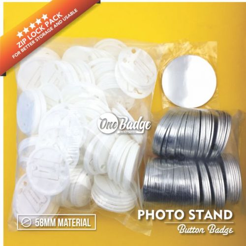 Button Badge Photo Stand 58mm Material Supplier Malaysia