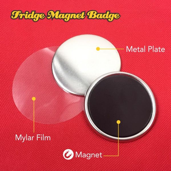 Fridge Magnet Button Badge Material-58mm
