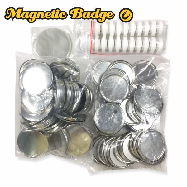 Magnetic Button Badge - 58mm . 50pcs/pkt