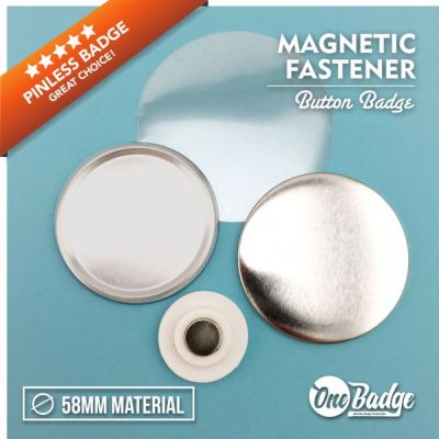 Magnetic Fasterner Badge Material 58mm -1