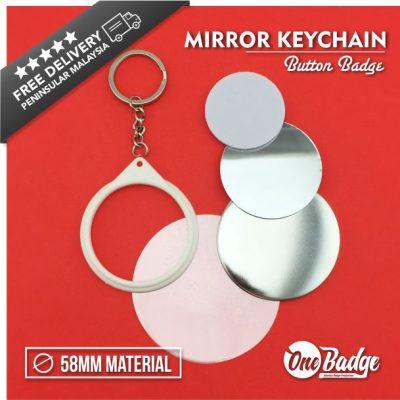 Mirror Key Chain Badge Material-1