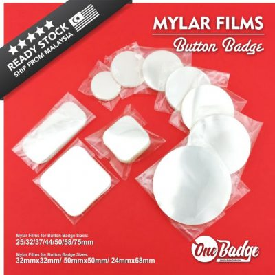 Mylar Films Button Badge -Web