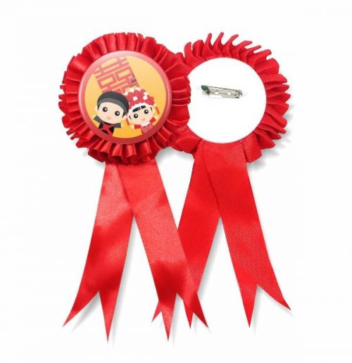 Ribbon Medal Badge Supplier Malaysia - Red Colour