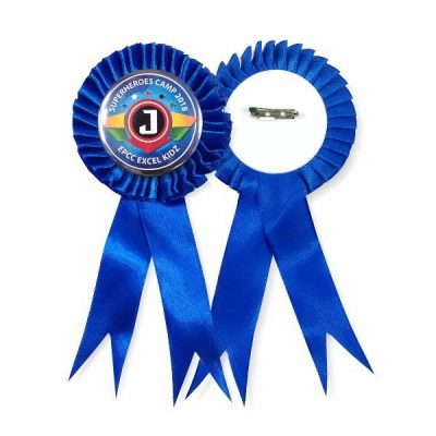 Ribbon Medal Badge Supplier Malaysia - Blue Colour