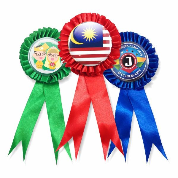 Ribbon Medal Button Badge Supplier Malaysia | 58mm Button Badge