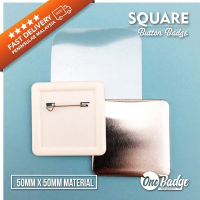 Square Badge 50mm x 50 mm Material -1
