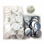 58mm Button Badge Material With Safety Pins