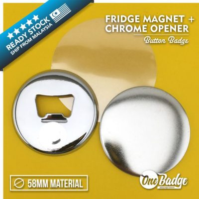Chrome Bottle Opener Material 58mm -1