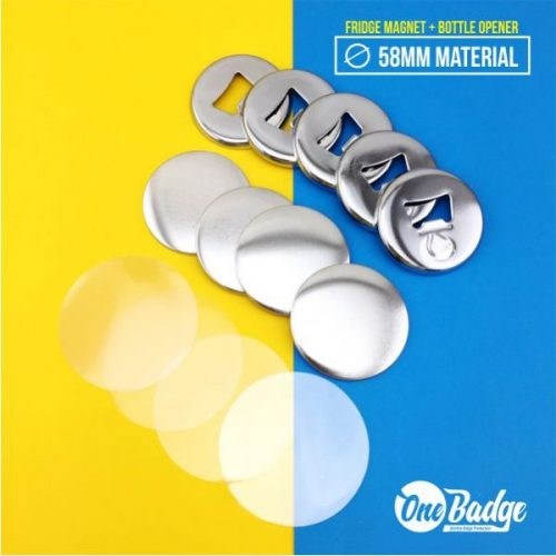 Chrome Fridge Magnet Bottle Opener 58mm-3
