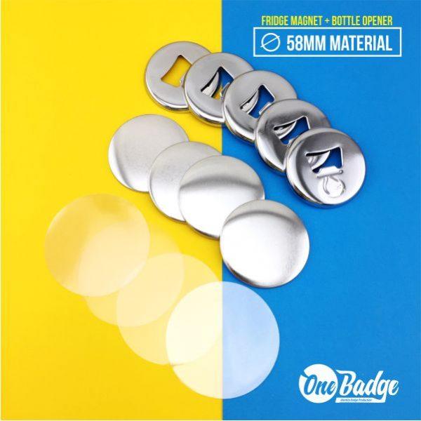 Fridge Magnet Chrome Bottle Opener Material-58mm