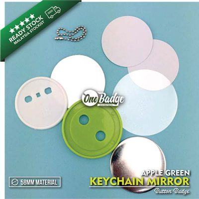 KeyChain Mirror Button Badge Material 1