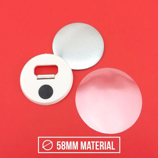 Fridge Magnet Bottle Opener Material - 58mm