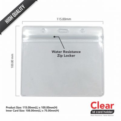 ID Card PVC Transparent Holder – 115mm x 100mm -2