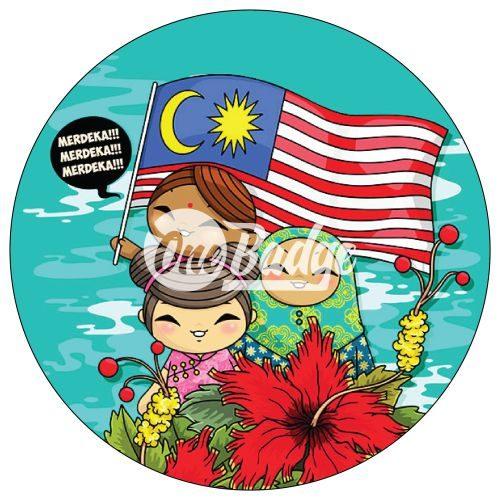 Merdeka Day Button Badge