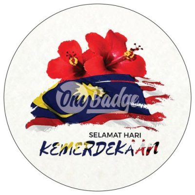Merdeka Theme Button Badge 10