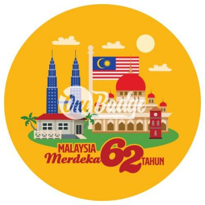 Merdeka Theme Button Badge 12