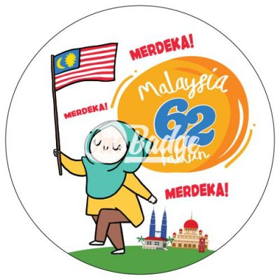 Merdeka Theme Button Badge 5