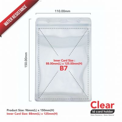 Transparent PVC Card Holder – Water Resistance 88 x 125-6-1