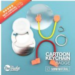Keychain Button Badge Cartoon Character