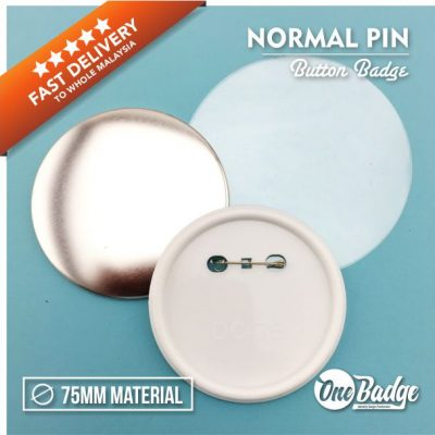 75mm Button Badge Material Normal Pin