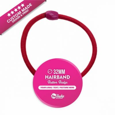 Custom Design & Print – HairBand Button Badge 32mm-1