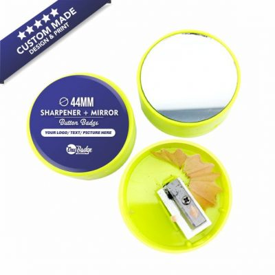 Custom Design & Print – Sharpener Mirror Badge 44mm