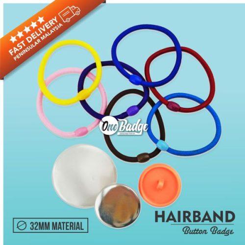 Hair Band Button Badge Material Supplier Malaysia