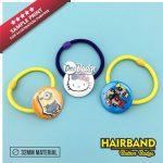 Hair Band Button Badge