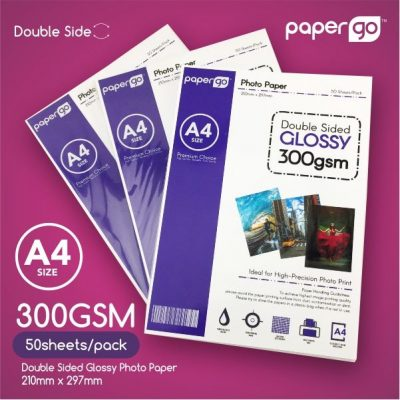 Papergo 300gsm Glossy Double Side Photo Paper -50sheets