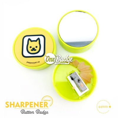 Sharpener Button Badge Material 2