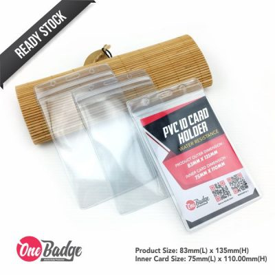 Transparent PVC Card Holder – Water Resistance 75mm x 110mm-1.1