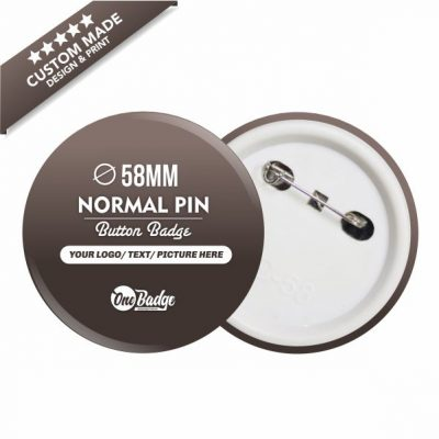 Custom Design & Print Button Badge – 58mm Normal Pin-1