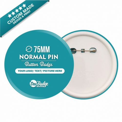 75mm Button Badge Normal Pin