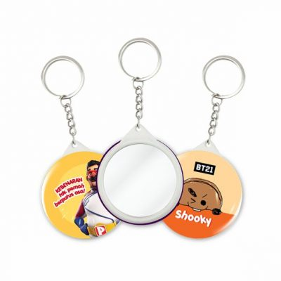Keychain Mirror Button Badge with Mirror -44mm