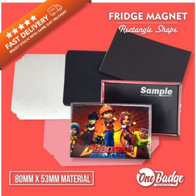 Rectangle Fridge Magnet Material Web 1